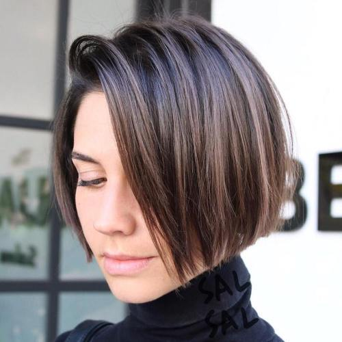 Jaw-Length Side-Parted Bob