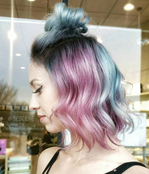 Byly promyty Pastel Blue And Pink Hair