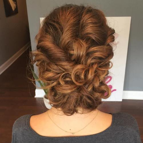 Обрати And Curls Loose Updo