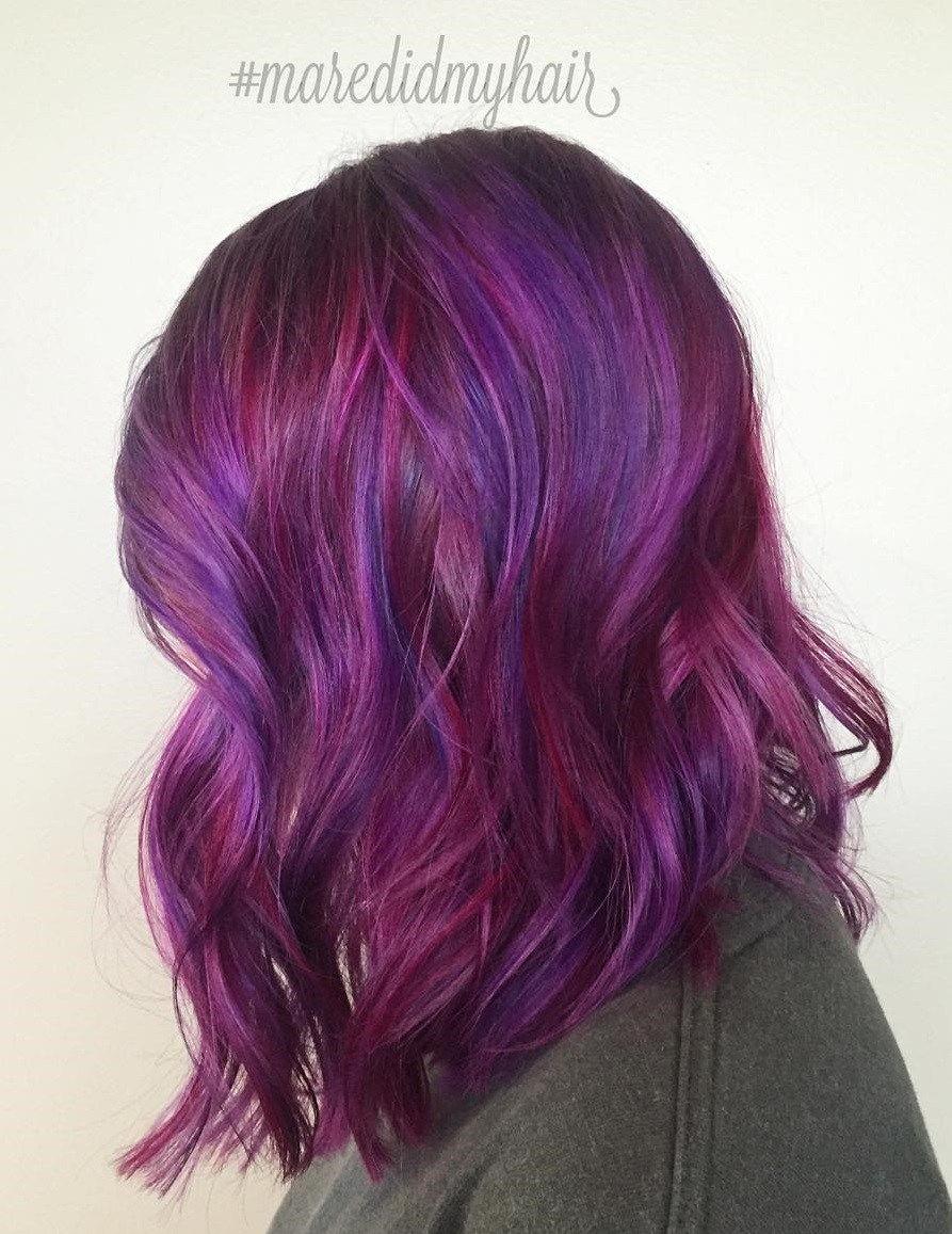 40 فكرة متعددة الاستخدامات من الشعرات البنفسجية للشعر الأشقر والبني والأحمر