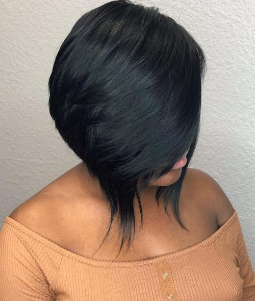Sleek Inverted Black Bob