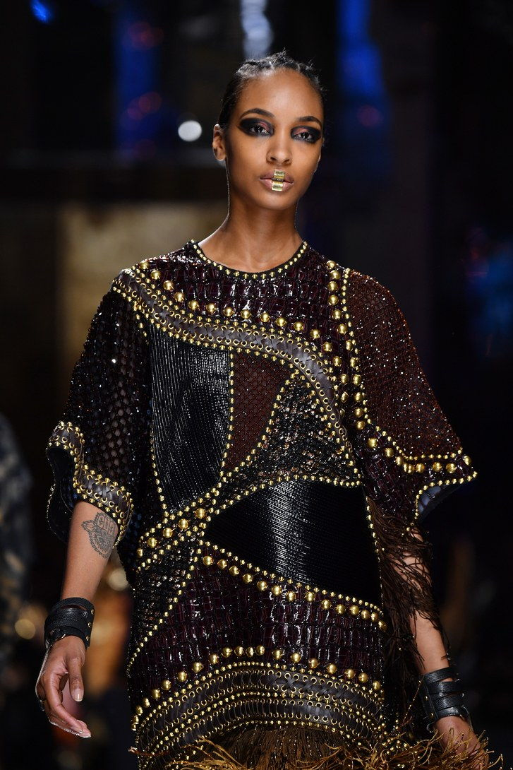 Balmain-Fall-2017-Jourdan-Dunn