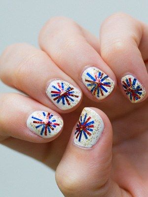 Ona Knows's fourth of july nail art