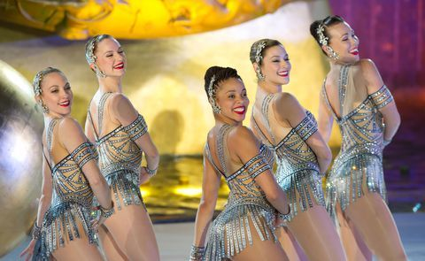NEW YORK, NY - NOVEMBER 30: The Radio City Rockettes perform at the 2011 Rockefeller Center Christmas tree lighting on November 30, 2011 in New York City. (Photo by Gilbert Carrasquillo/FilmMagic)